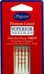 #60/8 MicroTex Titanium-coated Needles