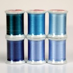 Kimono Silk Collection Blues - 6 Spools