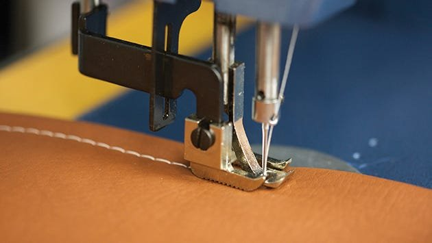 Sewing on upholstery material with Bonded Nylon