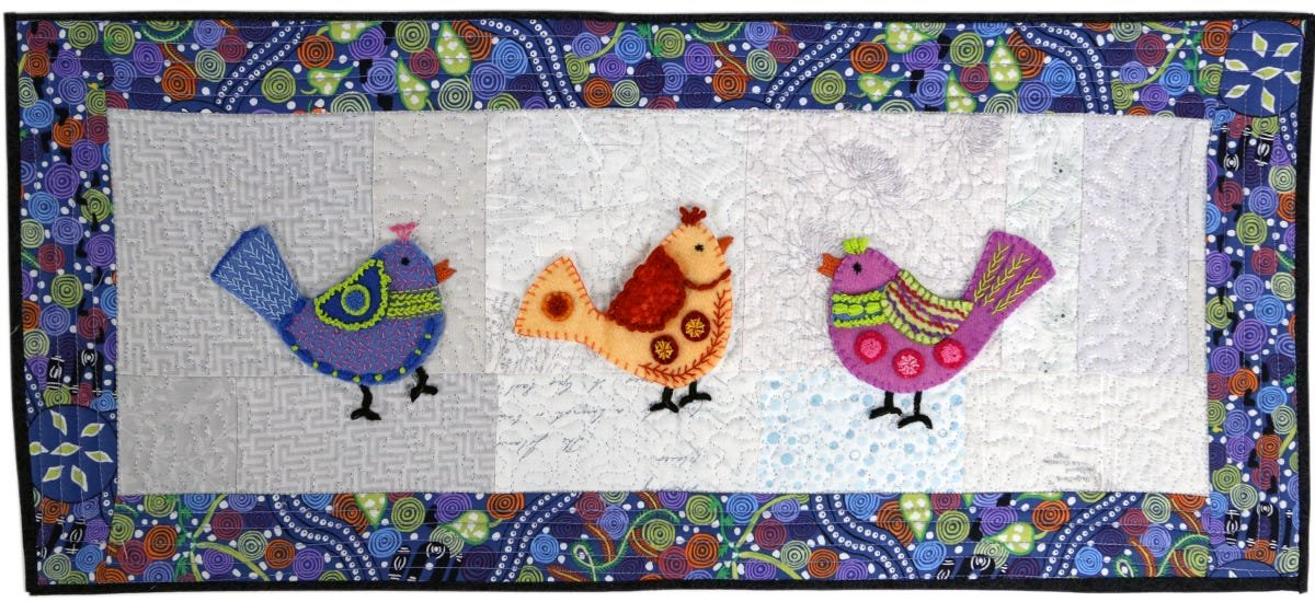 Three Birds Applique