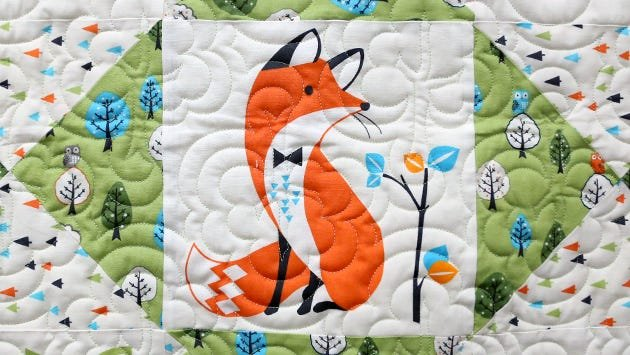Quilt block quilted with OMNI thread