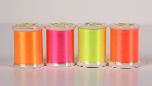 Super Brights fluorescent-colored polyester thread
