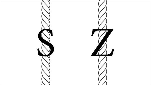 S twist and Z twist visualized