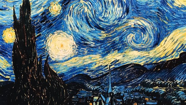 The original painting by Vincent van Gogh